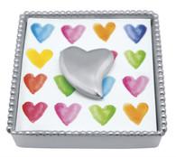 Mariposa Heart Beaded Napkin Box