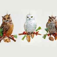 Owl on a Sprig Ornament