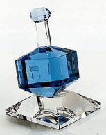 Dreidel on Stand - Cobalt