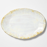 Vietri Perla Oval Platter