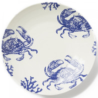 Vietri Costiera Blue Crab Large Serving Bowl