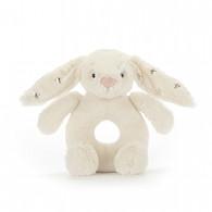 Jellycat Bashful Twinkle Bunny Ring Rattle Grabber