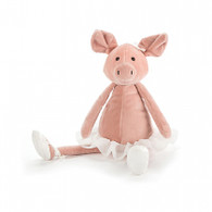 """Jellycat Dancing Darcy Piglet Small (9"""")"""