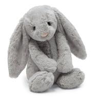 "Jellycat Bashful Grey Bunny Medium (12"")"
