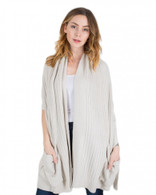 Barefoot Dreams CCL Travel Shawl- Bisque and Ocean