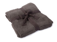 Barefoot Dreams CCL Ribbed Throw- Cocoa