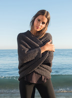 Barefoot Dreams Cozychic Shrug S/M or L/XL- Carbon and Stone