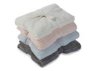 Barefoot Dreams CCL Lite Baby Blanket (Pink/Blue/Pewter)
