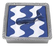 Mariposa Cobalt Whale Rope Napkin Box