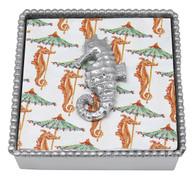 Mariposa Seahorse Beaded Napkin Box
