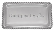"""Mariposa """"Don't Just Fly, Soar"""" Beaded Statement Tray"""
