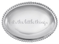 """Mariposa """"it's the little things"""" Small Oval Tray"""
