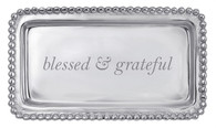 """Mariposa """"Blessed & Grateful Beaded"""" Tray"""