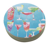 Mariposa Cocktail Blue Coaster Refill Pack of 12