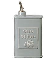 Vietri Lastra Gray Olive Oil Can (3896)