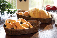 Oval Bread Basket with Edging - Large (2585)