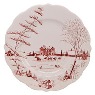 """Country Estate Ruby Scallop Dinner Plate 11"""" - Winter Frolic"""