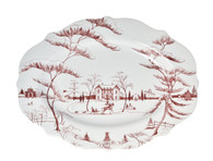 Juliska's Country Estate Serving Platter in Ruby