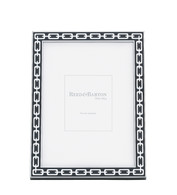 Midnight Black Silver Link Frame 5 x7