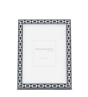 Midnight Black Silver Link Frame 4 x 6