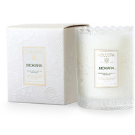 Mokara Boxed Scalloped Candle