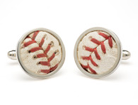 New York Yankees Game-Used Baseball Cuff Links