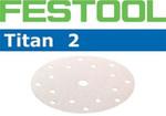 Festool Titan 2 | 185 Round | 360 Grit | Pack of 100 (491489)