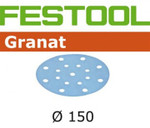 Festool Granat | 150 Round | 100 Grit | Pack of 100 (496978)