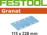 Festool Granat | 115 x 228 | 220 Grit | Pack of 100 (498950)