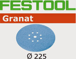 Festool Granat   225 Round Planex   120 Grit   Pack of 25 (499638)