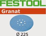 Festool Granat   225 Round Planex   220 Grit   Pack of 25 (499641)