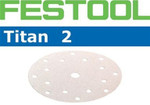 Festool Titan 2 | 185 round | 320 Grit | Pack of 100 (490590)