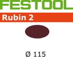 Festool Rubin 2 | 115 Round | 100 Grit | Pack of 50 (499088)