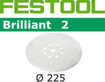 Festool Brilliant 2 | 225 Round Planex | 80 Grit | Pack of 25 (495929)