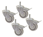 "Kreg 3"" Dual-Locking Caster Set - Set of 4 (PRS3090)"