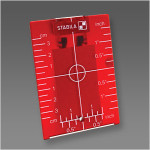 Stabila Magnetic Ceiling Target Plate - Red (07474)