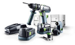 Festool Cordless Hammerdrill QUADRIVE PDC 18/4 (PLUS) (564596)