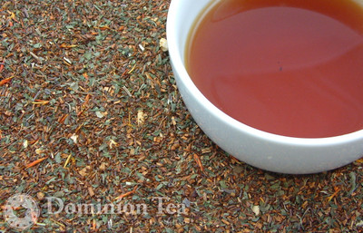 Amber Mint Tisane Dry Leaf and Liquor