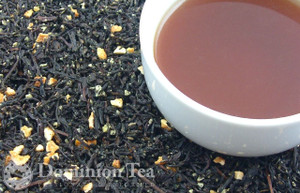 Orange Popsicle Tea Dry Leaf and Liquor
