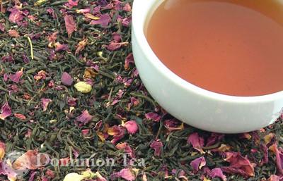 The Rose Garden Tea Dry Leaf and Liquor