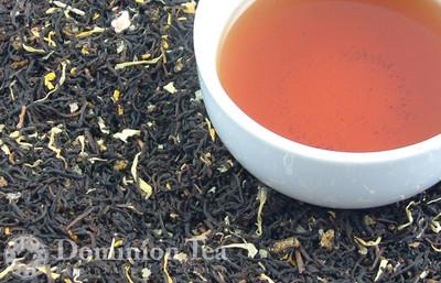 Summer Peach Tea Dry Leaf and Liquor