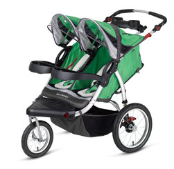 Schwinn Turismo Swivel Wheel Double Jogger - Green