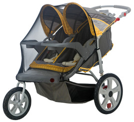 Bug Screen for Double Swivel Wheel Stroller