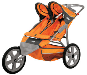 Flash Fixed Wheel Double Jogger - Orange