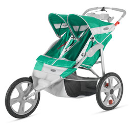 Flash Fixed Wheel Double Jogger - Grass