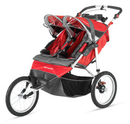 Schwinn Arrow Fixed Wheel Double Jogger - Red