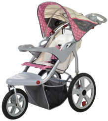 Grand Safari Swivel Wheel Jogger - Pink