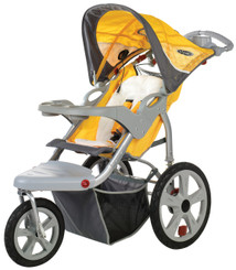 Grand Safari Swivel Wheel Jogger - Yellow