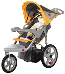 Grand Safari Swivel Wheel Jogger - Yellow/Gray