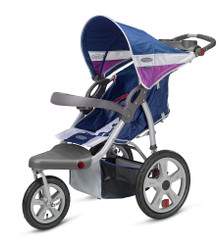Grand Safari Swivel Wheel Jogger - Blue